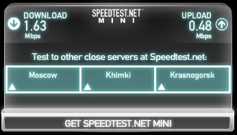 Speedtesn Одерихино Beelene - Химки Telincom