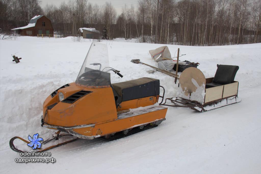Сани на снегоход буран